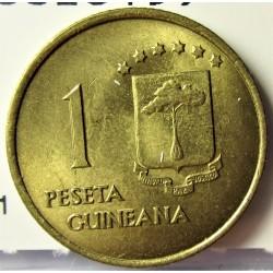 Guinea Ecuatorial 1 Pesetas. 1969. *19*69. CUNI. 3,5gr. Ø19mm. SC-. KM. 1