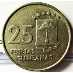 Guinea Ecuatorial 25 Pesetas. 1969. CUNI. 6,8gr. Ø24mm. MBC/MBC+. KM. 3