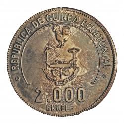 Guinea Ecuatorial 2000 Ekuele. 1979. AG. 42,87gr. Ley:0,925. (Mund. Fútbol Argentina '78). Ø45mm. PRF. (Bonita patina oscura).