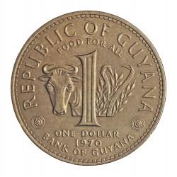 Guyana 1 Dolar. 1970. CUNI. 19gr. (Fao). Ø30mm. SC. KM. 36
