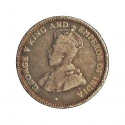 Guyana 4 Pence. 1923. AG. 1,885gr. Ley:0,925. (Britis Guyana). Ø16mm. MBC-/MBC. RARO/A. KM. 29