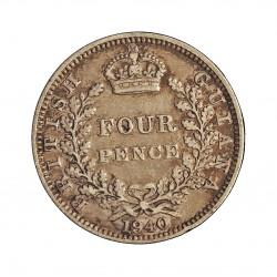 Guyana 4 Pence. 1940. AG. 1,885gr. Ley:0,925. (Britis Guyana). Ø16mm. MBC/MBC+. KM. 30