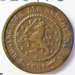 Holanda ½ Cts. 1891. CU. 1,25gr. Ø14mm. MBC. KM. 109
