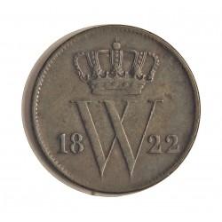 Holanda 1 Cts. 1822. CU. 3,85gr. Ø22mm. MBC-/MBC. KM. 47