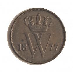 Holanda 1 Cts. 1877. A. CU. 3,5gr. Ø19mm. EBC-. RARO/A. KM. 100