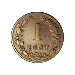 Holanda 1 Cts. 1881. CU. 2,1gr. Ø19mm. MBC-/MBC. KM. 107