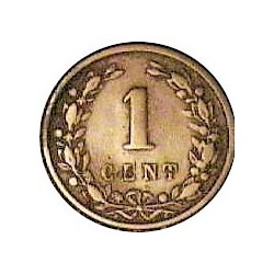 Holanda 1 Cts. 1892. CU. 2,1gr. Ø19mm. MBC-/MBC. ESCASO/A. KM. 107