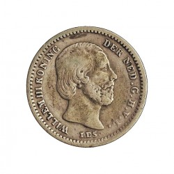 Holanda 5 Cts. 1850. AG. 0,685gr. Ley:0,640. Ø13mm. MBC. KM. 91