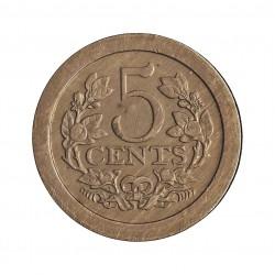 Holanda 5 Cts. 1907. CUNI. 4,6gr. Ø18mm. MBC+/EBC-. ESCASO/A. KM. 137