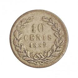 Holanda 10 Cts. 1889. AG. 1,4gr. Ley:0,640. Ø15mm. RC+/BC-. KM. 80