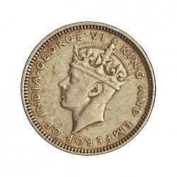 Honduras-(Britanica) 10 Cent. 1944. AG. 2,3gr. Ley:0,925. Ø18mm. MBC+. KM. 23