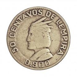 Honduras 50  Ctvo.  1932. AG. 6,25gr. Ley:0,900. Ø23,5mm. BC+/MBC-. KM. 74