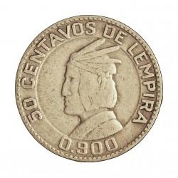 Honduras 50  Ctvo.  1937. AG. 6,25gr. Ley:0,900. Ø23,5mm. MBC. KM. 74