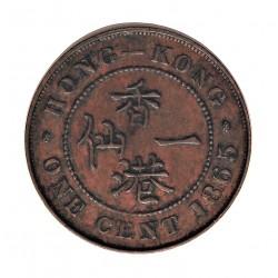 Hong Kong 1  Cent. 1865. AE. 7,3gr. Ø27,5mm. MBC+. KM. 4.1