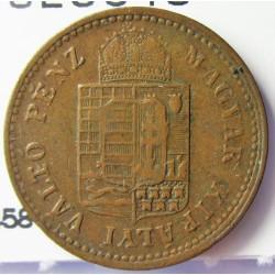 Hungria 1 Krajczar. 1885. KB-(Kremnitz). CU. 3,33gr. Ø19mm. MBC. KM. 458