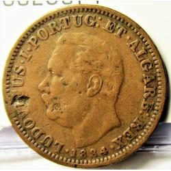 India Portuguesa ¼ Rupia. 01884. CU. 6,5gr. Ø25mm. MBC-. KM. 308