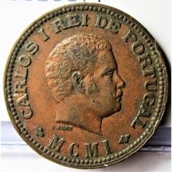 India Portuguesa ¼ Tanga. 1901. (1/4º de Tanga). AE. 6,2gr. Ley:0,000. Ø25mm. MBC+. KM. 15