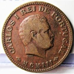 India Portuguesa ¼ Tanga. 1903. (1/4º de Tanga). AE. 6,2gr. Ley:0,000. Ø25mm. MBC. KM. 15