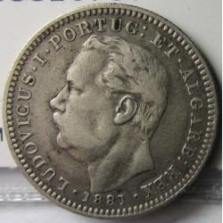 India Portuguesa ½ Rupia. 1881. (1/2 Rupia). AG. 5,83gr. Ley:0,917. Ø24mm. MBC/MBC+. KM. 311