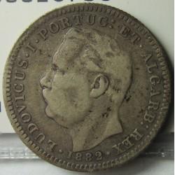 India Portuguesa ½ Rupia. 1882. (1/2 Rupia). AG. 5,83gr. Ley:0,917. Ø24mm. MBC-/MBC. KM. 311