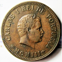 India Portuguesa ½ Tanga. 1901. AE. 12,5gr. Ley:0,000. Ø30mm. MBC/MBC+. KM. 16