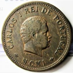 India Portuguesa ½ Tanga. 1903. AE. 12,5gr. Ley:0,000. Ø30mm. MBC/MBC+. KM. 16
