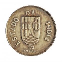 India Portuguesa ½ Rupia. 1936. AG. 6gr. Ø25mm. EBC+/SC-. KM. 23