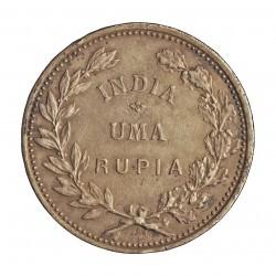 India Portuguesa 1 Rupia. 1912. AG. 11,66gr. Ø30mm. MBC-/MBC. RARO/A. KM. 18