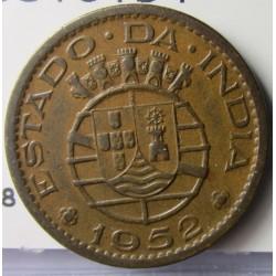 India Portuguesa 1 Tanga. 1952. CU. 4gr. Ø20mm. MBC+. KM. 28