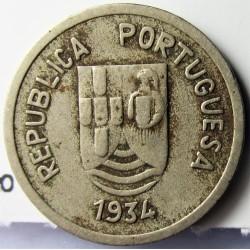 India Portuguesa 2 Tanga. 1934. CUNI. 2,9gr. Ø19mm. MBC. MUY ESCASO/A. KM. 20