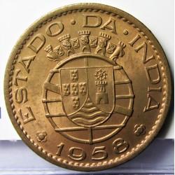 India Portuguesa 30 Ctvo. 1958. AE. 4gr. Ley:0,000. Ø22mm. SC. (Tono original). MUY ESCASO/A. en esta conservacion. KM. 31