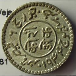 India-(Princ./Est.) 1 Kori. 1943. (VS2000). (KUTCH). AG. 4,7gr. Ley:0,601. (Vejarajji). Ø17mm. SC. KM. 81