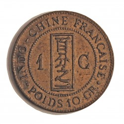 Indochina Francesa 1 Cts. 1885. A-(Paris). CU. 10gr. Ø31mm. MBC+. KM. 1