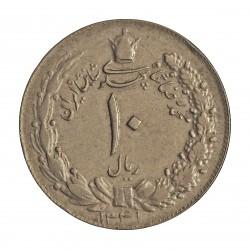 Iran 10 Rial. 1962. (SH.1341). CUNI. 11,77gr. Ø31mm. MBC-. KM. 1177