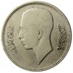 Iraq 50  Fils. 1937. AG. 9gr. Ley:0,500. (Ghazi I-1933/39). Ø26,5mm. MBC+. MUY ESCASO/A. KM. 104