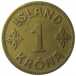 Islandia 1 Kronur. 1925. (h). NCN.GJ. AL+AE. 4,75gr. Ø22mm. MBC. KM. 3.1