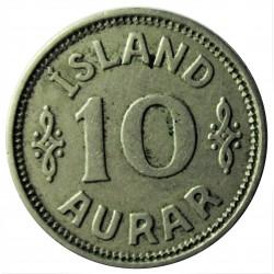 Islandia 10 Aurar. 1922. (h). HCN.GJ. CUNI. 1,5gr. Ø15mm. MBC+. KM. 1.1