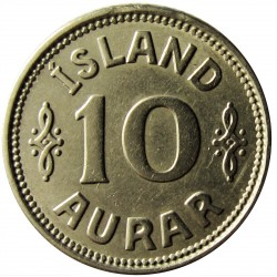 Islandia 10 Aurar. 1923. (h). HCN.GJ. CUNI. 1,5gr. Ø15mm. MBC+/EBC-. KM. 1.1