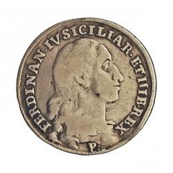 Italia 20  Grana. 1796. (Tari). Napoles y Sicilia. P/A.P.  AG. 5,544gr. Ley:0,833. Ø23mm. MBC. KM. 57