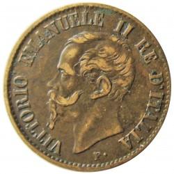 Italia 1  Cts.  1862. N-(Napoles). CU. 1gr. Ø15mm. MBC+. KM. 1.2