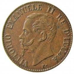 Italia 1  Cts.  1867. M-(Milan). CU. 1gr. Ø15mm. EBC+. (Tono oscuro). MUY ESCASO/A. KM. 1.1