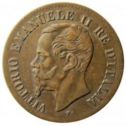 Italia 2  Cts.  1862. N-(Napoles). CU. 2gr. Ø20mm. MBC-/MBC. KM. 2.2