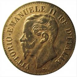 Italia 2  Cts.  1867. M-(Milan). CU. 2gr. Ø20mm. SC-/SC. (Gran parte  de su tono original). KM. 2.3