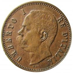 Italia 2  Cts.  1898. R-(Roma). CU. 2gr. Ø20mm. MBC+. (Patina). KM. 30