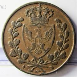 Italia 5  Cts.  1826. (Turin). CU. 10gr. Ø28mm. MBC+. KM. 127.2