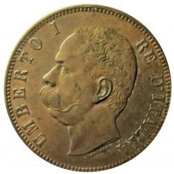 Italia 10  Cts.  1893. Birmingham. CU. 10gr. Ø30mm. SC-/SC. (Gran parte de su tono original). KM. 27.1