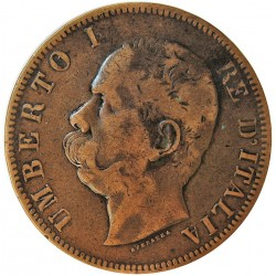 Italia 10  Cts.  1894. Birmingham. CU. 9,81gr. Ø30mm. MBC-/MBC. KM. 27.1