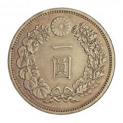 Japon 1 Yen. 1882. (aÑO 15). AG. 26,96gr. Ley:0,900. (Mutsuhito-(Meiji)). Ø38mm. EBC/EBC+. KM. A25.2