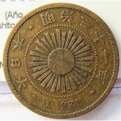 Japon 1 Sen. 1898. CU. 3,7gr. (Año 31-Mutsuhito-(Meiji). Ø28mm. MBC+. KM. 20