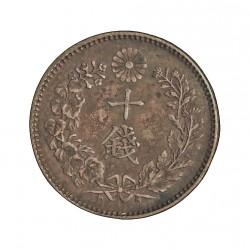Japon 10 Sen. 1897. AG. 2,696gr. Ley:0,800. (Año 30-Mutsuhito-(Meiji)). Ø18mm. EBC+/SC-. KM. 23